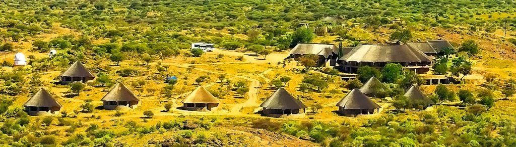 Onjala Lodge aus der Luft gesehen